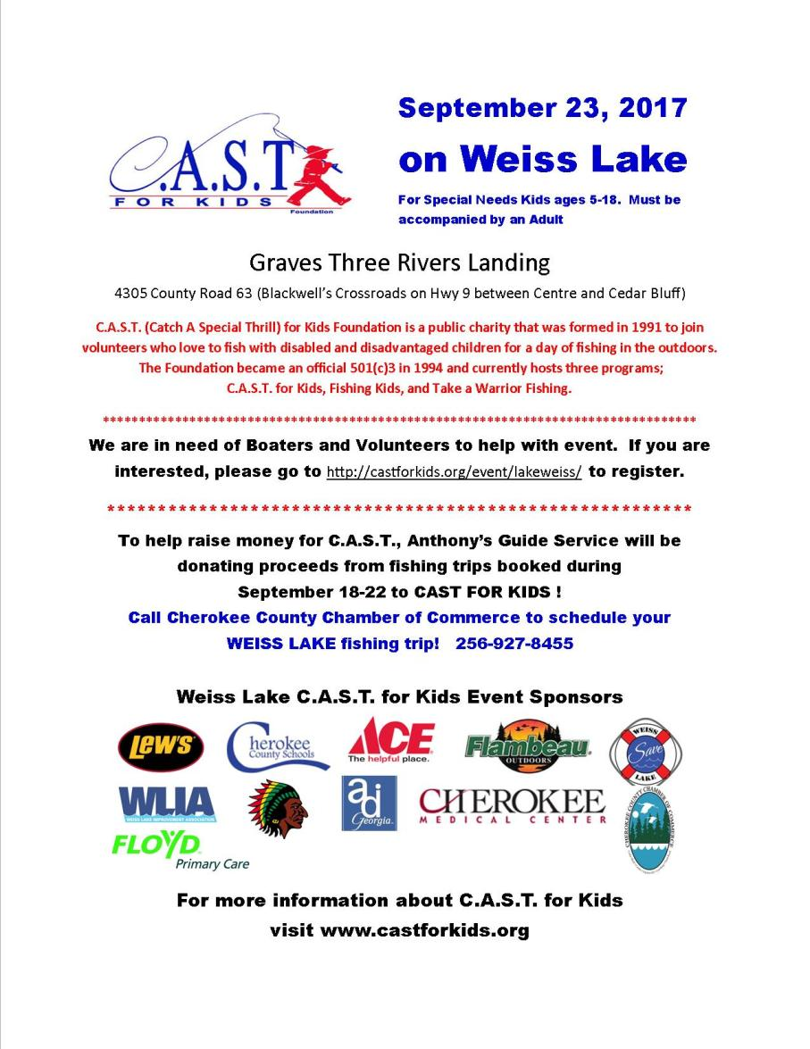 CAST on Weiss flyer