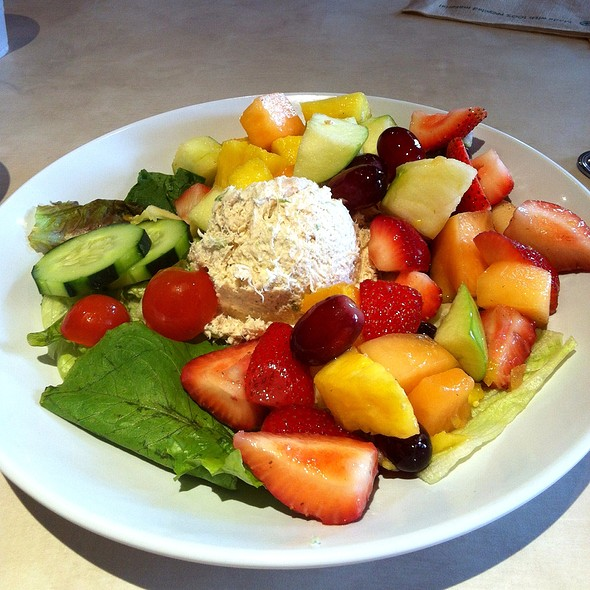 chicken salad and fruit