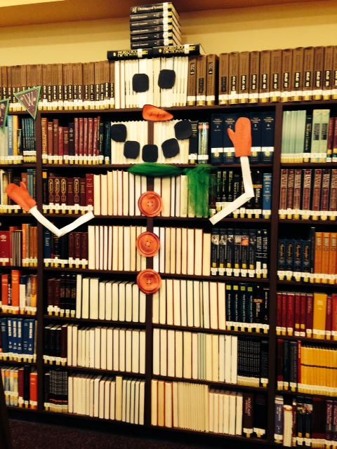 library snowman